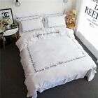 Long-Staple Cotton King/Queen Size Quilt Covers Duvet/Doona Cover Set Bedding