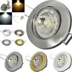 1- 10er Sets / 7W LED Spots / 220V / EEK A+ / IP20 / Federring / Decke / Einbau.