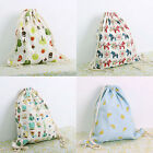 New Gym Backpack Drawstring Shoulders Travel Bag Big Flowers Swim Beach Bags MO