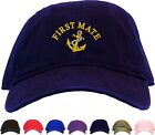 First Mate w/ Anchor Embroidered Low Profile Ball Cap - Available 7 Colors - hat