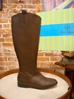 Hot in Hollywood Brown Leather Riding Boots New