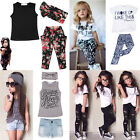 2-7Y Baby Toddler Girls T-shirt Tops+Pants/Shorts/Dress Set Children Outfits New