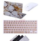 "Marble MacBook Air 13"" Case Cover +  Silicone Keyboard Skin + Wireless Mouse"