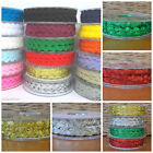 Decorative RIC RAC 6mm 19 colours sold per 4 metres gold silver red green pink..