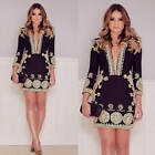Pop Best Sexy Women Long Sleeve Party Dress Evening Cocktail Casual Mini Dress