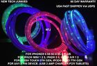 FLAT FLOW MOVING LIGHT-UP glow LED charger cable for iPhone 8 7 5c 6s plus MICRO