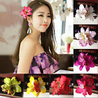 Wedding Bridal Party Orchid Flower Hair Clip Hairpin Barrette Hair Accessory New