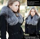 Original 80cm full fur STOLE collar boa in Silver/Black/Brown/White Ranched Fox