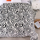 New Striped Blankets Flannel Quilt Warm MINK Single Queen Size Bed Linen