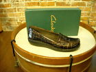 Clarks Bayou Brown Croco Patent Leather Loafers NEW