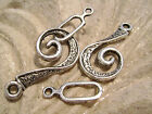 "8845FX Toggle Clasp Antiqued Silver plated "" Pewter"" Hook Eye, 10, 25 & 50 sets"