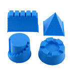 New 4pcs Castle Sand Toys Pyramid Sandcastle Water Blue Kids Gift Outdoors Hot