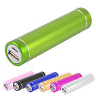 Cylindrical 2600mAh Micro USB Portable Power Bank for Phone Mp5