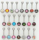 "14g x 7/16"" BAD WORD THEME BELLY RING Choose Style Body Piercing Jewelry HOT!!"