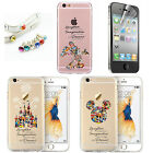 Cartoon Disney Crystal Silicone Slim Phone Cover Case For iPhone 6 7 8 Series