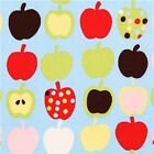 PIPIN APPLES FRUIT BLUE NOVELTY ALEXANDER HENRY COTTON FABRIC *Free Oz Post