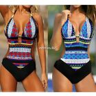Women's Swimsuit Swimwear Bikini Bohemia Bandage One-piece Padded Bathing Halter