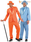 Mens Bright Suit Adult Pimp Gangster Dumb Dumber Fancy Dress Costume Funny