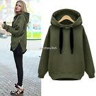 Women Zip Hem Hoodie Jacket Coat Sweatshirt Outerwear Hooded Sweater Tops N4U8