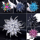 New Fashion Alloy Lady Rhinestone Flower Wedding Bridal Bouquet Party Brooch Pin
