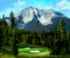 R. Tom Gilleon 16th HOLE RESERVE AT MOONLIGHT BASIN, Golf Montana, canvas #50/50