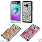 3D Diamante Flake Case Hard Cover for Samsung Galaxy Express 3 Amp 2 J1 (2016)