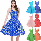Women Vintage Party Cocktail Casual Prom Flare Skater Dress Polka Dot
