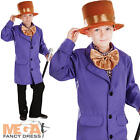 Willy Wonka Boys Factory Owner Fancy Dress Kids Book Week Childrens Costume New