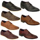 Mens Leather Look Brogue Lace Up Pointed Formal Italian Shoes By Belide