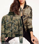 NEW Womens MA1 Camo Padded Bomber Army Jacket Ladies Quilted Size 8 10 12 14 16