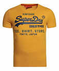 New Mens Superdry Factory Second Shirt Shop T-Shirt Gold Marl