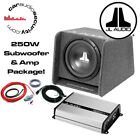 """JL Audio CP110 10"""" Enclosed BassWedge Ported + JL JX250/1 Amplifier + Wiring Kit"""