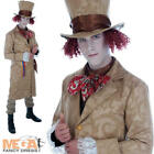 Dickensian Toff + Hat Mens Edwardian Fancy Dress Mad Hatter Adult Costume Outfit