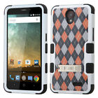 For Cricket ZTE Sonata 3 Z832 Rubber IMPACT TUFF Hybrid KICKSTAND Case Cover