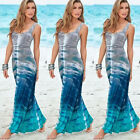 Women Casual Sexy Summer Sleeveless Sundress Long Boho Maxi Beach Dress Hot Cute