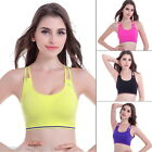 NEW Womens Sports Bra Strappy Bra Gym Running Fitness Seamless Bras Padding