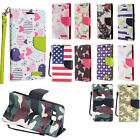 For Samsung Galaxy On5 Leather Wallet Pouch Flip Phone Cover + Screen Guard