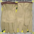 S-M-L-XL Soft Pigskin-Cowhide Winter-Summer Leather Work Driver Gloves Men Women