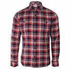 EDWIN SHIRT LABOUR MENS RED CHECK LONG SLEEVE TOP