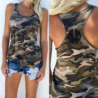 COOL Fashion Women Summer Vest Top Sleeveless Shirt Camouflage Tank Top T-Shirts