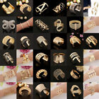 Fashion Women Vintage Gold Silver Bangle Design Punk Cuff Bracelet Jewelry Gift