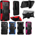 For Alcatel Dawn Combo Holster HYBRID KICKSTAND Rubber Case Phone Cover
