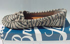 NIB defects Lucky Brand Darice Driver Loafer Moccasin Suede Zebra Womens Sz 8
