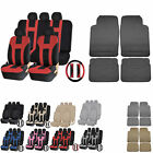 UAA Premium SUV Rubber Liner Mats & Dual-Stitch Racing Polyester Seat Covers Set