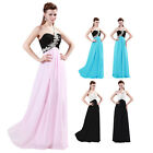 New One Shoulder Women Weding Bridesmaid Prom Party Evening Cocktail Long Dress
