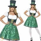 Ladies Leprechaun Lass Costume St Patricks Day Irish Fancy Dress Womens Outfit