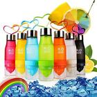650ml Useful Sports Bike Health Fruit Infusing Infuser Water Bottle Lemon ED