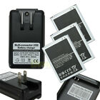 3X Smartphone Battery + Dock Charger for Samsung Galaxy S3 S4 S5 Note 2 3 4 MINI