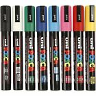 UNI POSCA MARKER PEN PC-5M MEDIUM BULLET TIP GLASS PAINT CHALK - ALL 32 COLOURS
