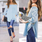 SUmmer Lady Off Shoulder Casual Long Sleeve Lovely T-Shirt Tops Blouse CUB